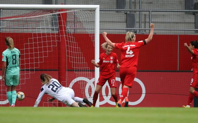 Die Bayern-Frauen stellten gegen Hoffenheim spät die Weichen auf Sieg
