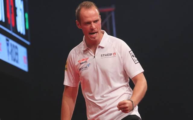 Max Hopp gewann bei der German Darts Championship in Runde 2 gegen Ian White