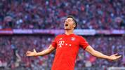 Robert Lewandowski jubelt für den FC Bayern