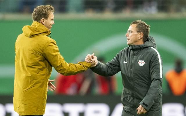 Julian Nagelsmann und Ralf Rangnick arbeiten in der kommenden Saison bei RB Leipzig zusammen