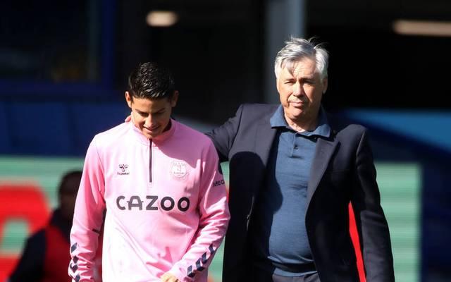 James Rodriguez und Carlo Ancelotti sind beim FC Everton wieder vereint