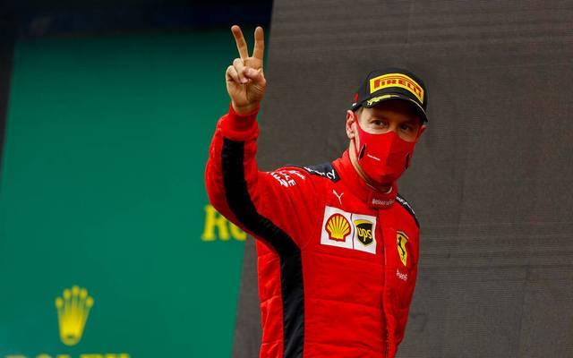 Sebastian Vettel gab in der Türkei sein Comeback auf dem Podest