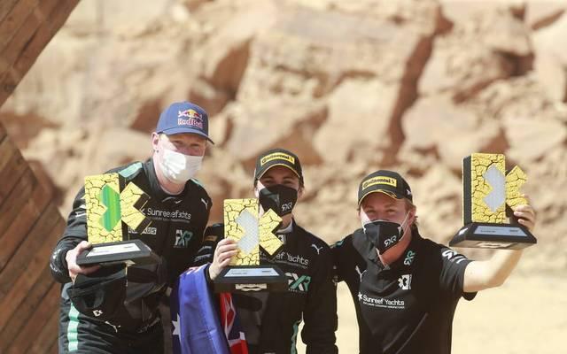 Team Rosberg um Teambesitzer Nico Rosberg (r.) feierte einen erfolgreichen Auftakt in die Extreme E