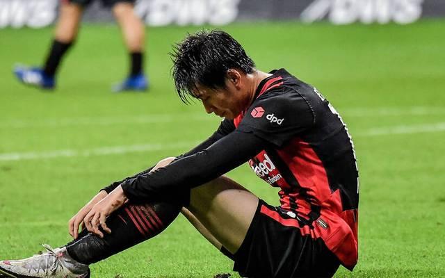 Daichi Kamada ist nach dem 1:1 gegen Werder Bremen enttäuscht