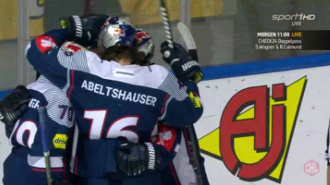 Der EHC red Bull München jubelt auch im zweiten Spiel über einen Sieg