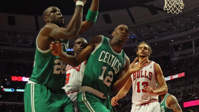 JaJuan Johnson (Nummer 12) absolvierte 36 Spiele in der NBA für die Boston Celtics