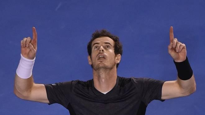 Andy Murray feiert seinen Sieg bei den Australian Open gegen Bernard Tomic