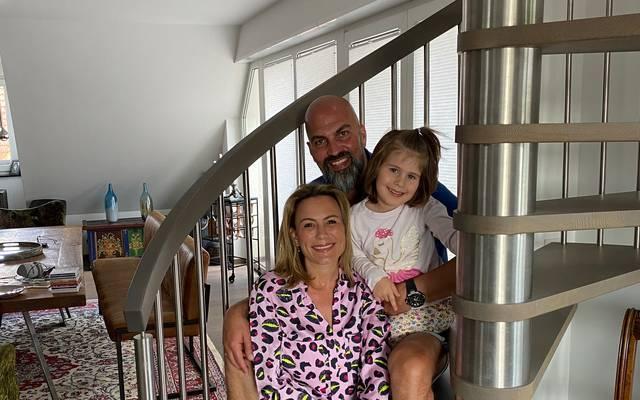 Ganz privat: Markus Babbel mit seiner Frau Tina und Tochter Charlotte