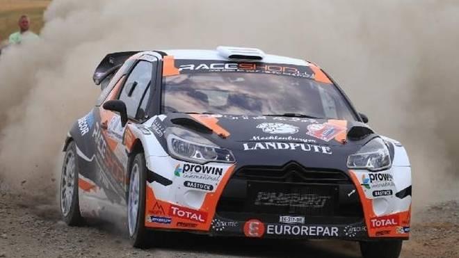 Marijan Griebel fährt bei der Rallye Deutschland einen Citroen DS3 WRC