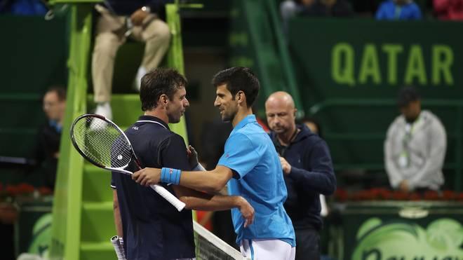 Horacio Zeballos (l.) fragte Novak Djokovic nach einem Selfie