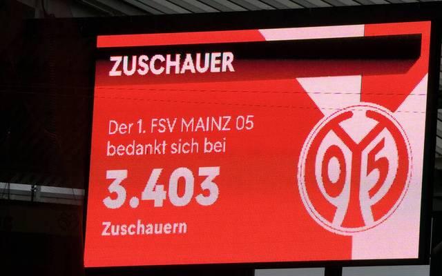 Gegen Stuttgart waren in Mainz 3.403 Fans zu Gast