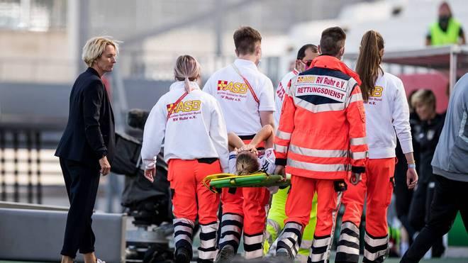 Giulia Gwinn verletzte sich beim klaren deutschen Sieg