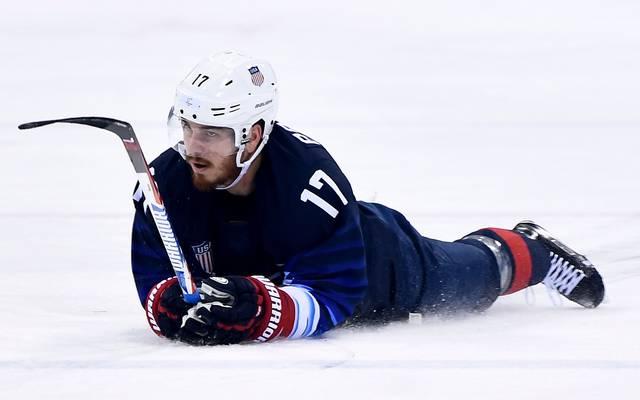 Eishockey: ERC Red Bull München holt Chris Bourque, Chris Bourque spielte 2018 bei den Olympischen Spielen für die USA
