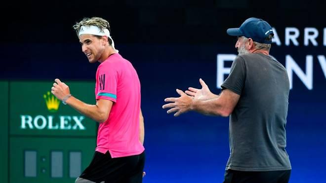 Dominic Thiem wurde bereits beim ATP-Cup von Thomas Muster betreut