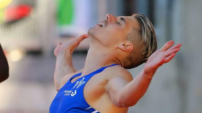 Julian Reus gewann bei der DM in Nürnberg Gold über 100 und 200 m