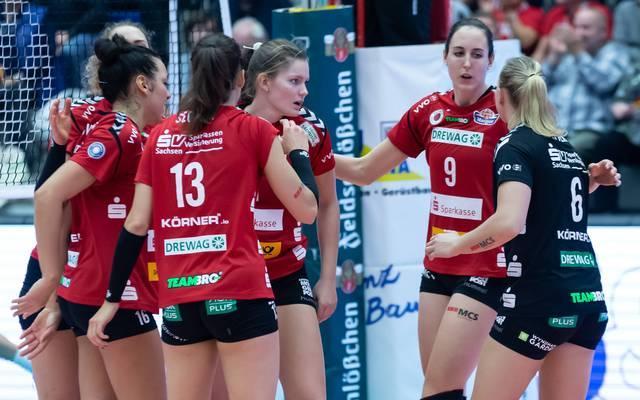 Der Dresdner SC feiert im zweiten Spiel den zweiten Sieg