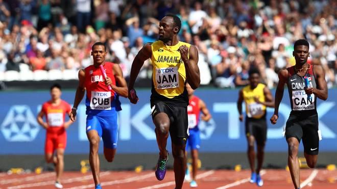 Usain Bolt bei der Leichtathletik-WM in der Staffel