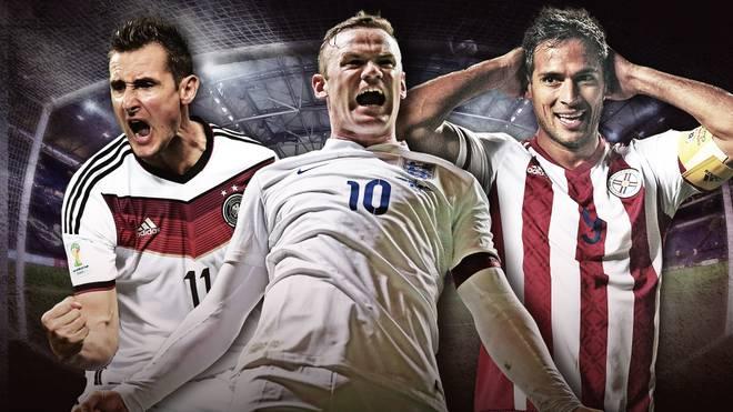 Miroslav Klose, Wayne Rooney, Roque Santa Cruz