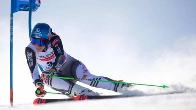 Petra Vlhova entriss Mikaela Shiffrin im zweiten Lauf die Führung
