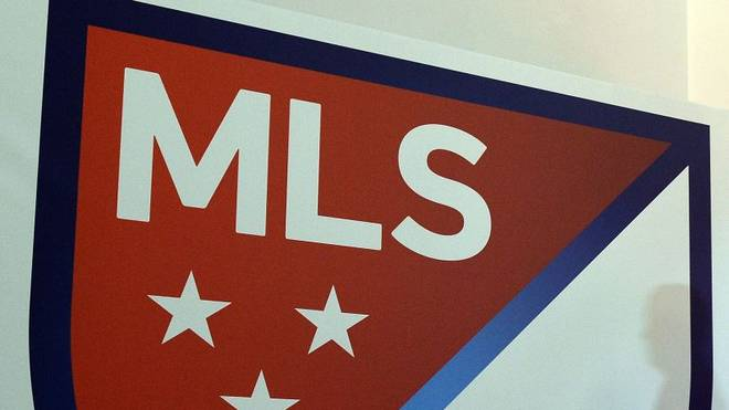 The new Major League Soccer (MLS) logo is pictured during an unveiling event in New York on September 18, 2014. MLS unveiled the new logo ahead of its 20th season. AFP PHOTO/Jewel Samad        (Photo credit should read JEWEL SAMAD/AFP/Getty Images)
