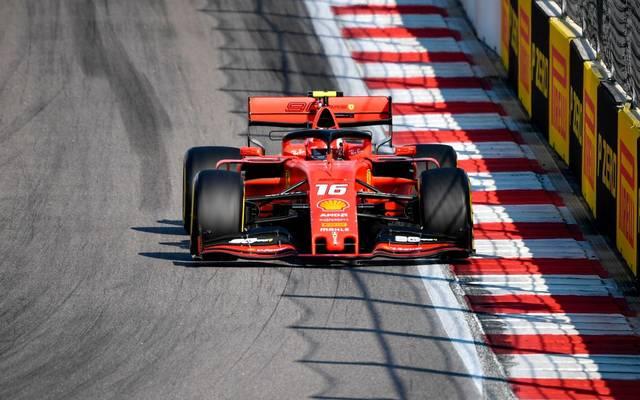 Ferrari-Pilot Charles Leclerc geht in Sotschi als Topfavorit ins Rennen
