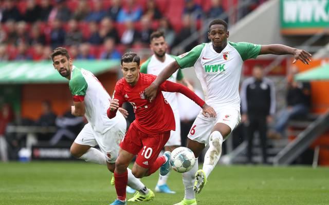 Philippe Coutinho und der FC Bayern spielten im Hinspiel in Augsburg nur unentschieden