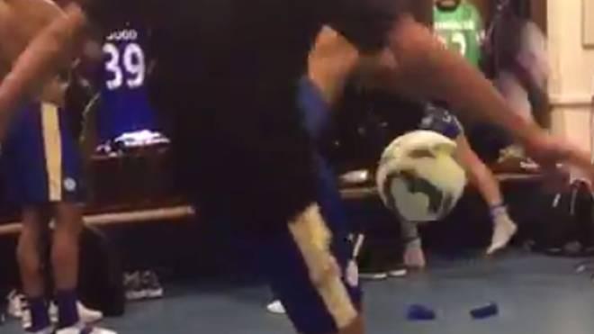 Riyad Mahrez jonglierte beeindruckend auf Socken