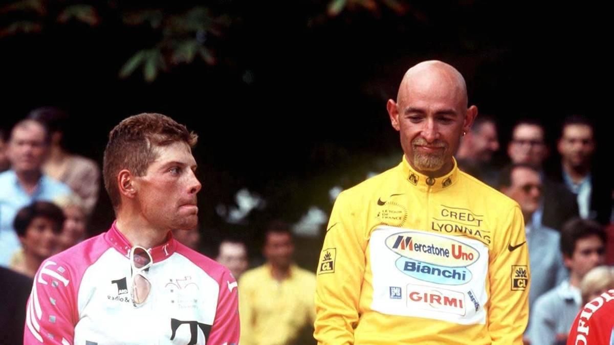 Jan Ullrich musste 1998 Marco Pantani den Sieg bei der Tour de France überlassen