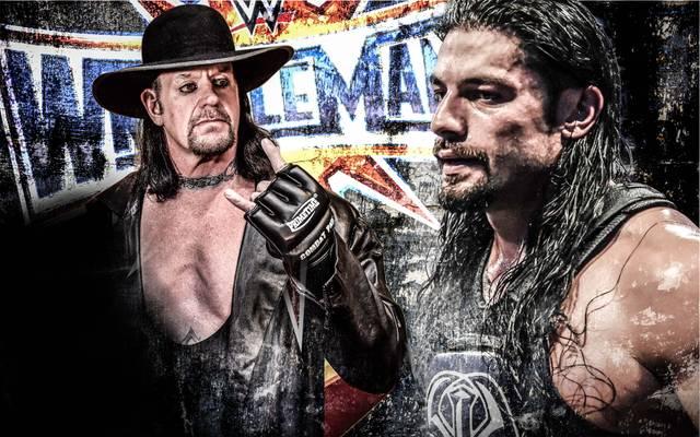 Der Undertaker (l.) trifft bei WWE WrestleMania 33 auf Roman Reigns