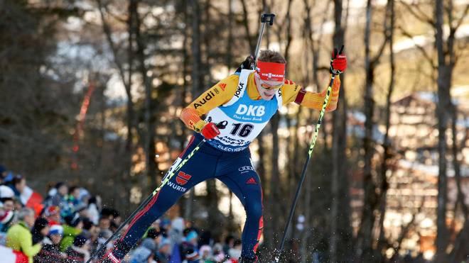 Die deutsche Biathlon-Staffel wird nur fünfter in Ruhpolding