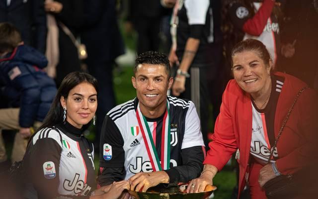 Ronaldo feierte den Meistertitel 2019 mit seiner Mutter