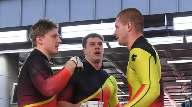 Johannes Lochner (l.) ist erneut Europameister im Bobfahren
