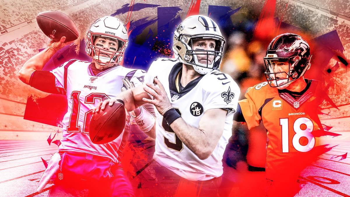 Tom Brady, Drew Brees, Peyton Manning