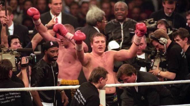 Axel Schulz fühlte sich nach dem Kampfende gegen Francois Botha 1995 als Sieger
