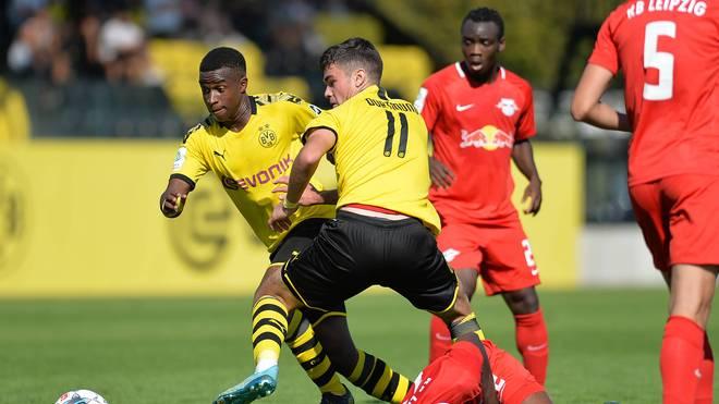 Youssoufa Moukoko scheiterte mit der U19 des BVB im DFB-Pokal an RB Leipzig