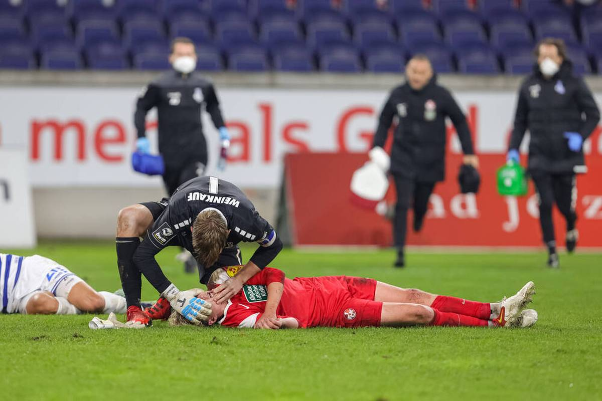 Felix Götze erleidet beim Remis des 1. FC Kaiserslautern beim MSV Duisburg erneut eine Kopfverletzung. Jetzt will er Konsequenzen daraus ziehen.