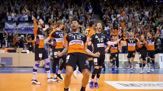 Die BR Volleys benötigen noch einen Sieg zur Titelverteidigung