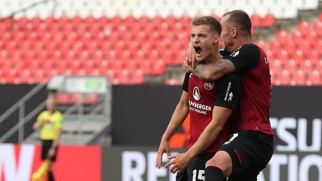 Fabian Nürnberger traf im Relegationshinspiel gegen den FC Ingolstadt gleich doppelt