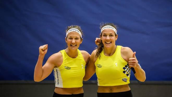 Isabel Schneider (l.) und Victoria Bieneck zählen zu den besten deutschen Beach-Duos