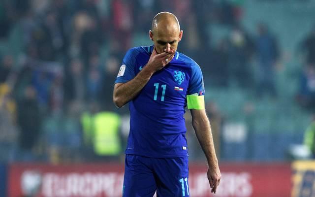 Arjen Robben ist nach den letzten Auftritten der Niederländer ziemlich gefrustet