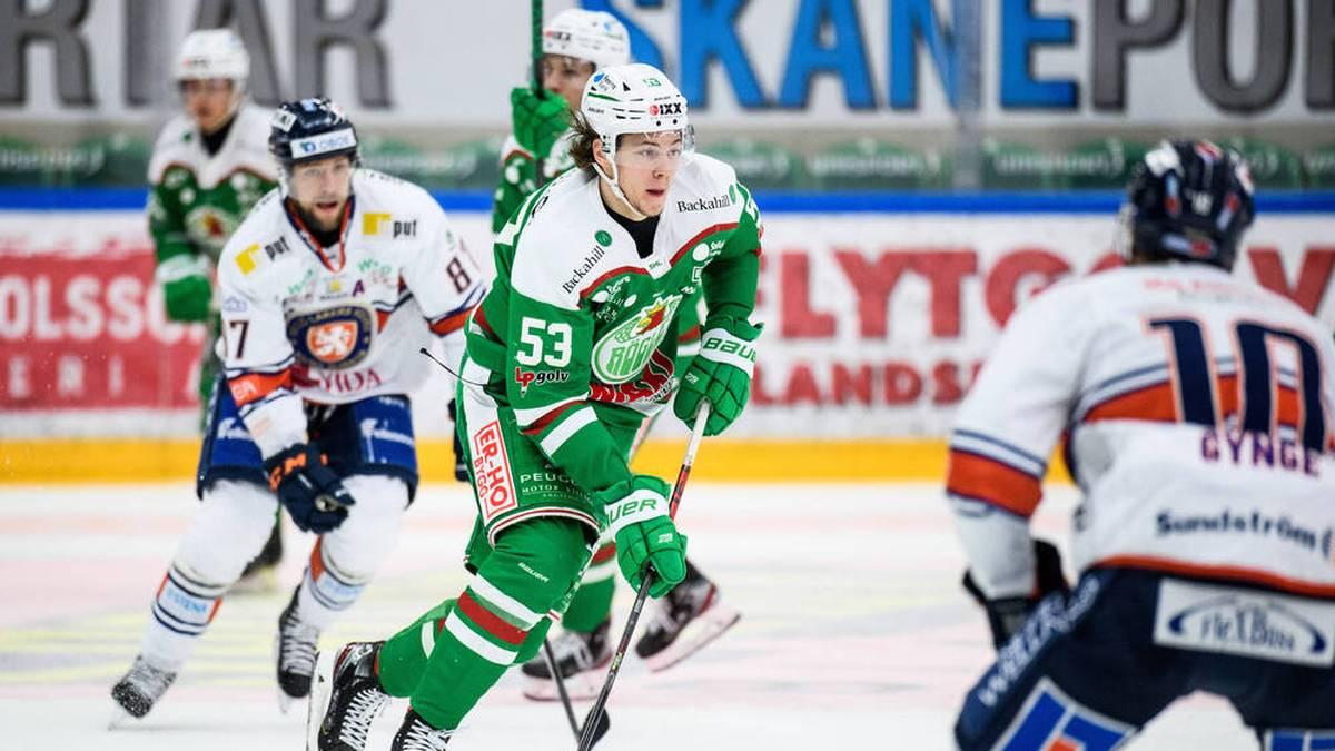 Moritz Seider zeigte bereits in seiner ersten Saison in Schweden sein überragendes Talent