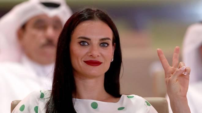 Jelena Issinbajewa bei der Leichtathletik-WM 2019 in Doha