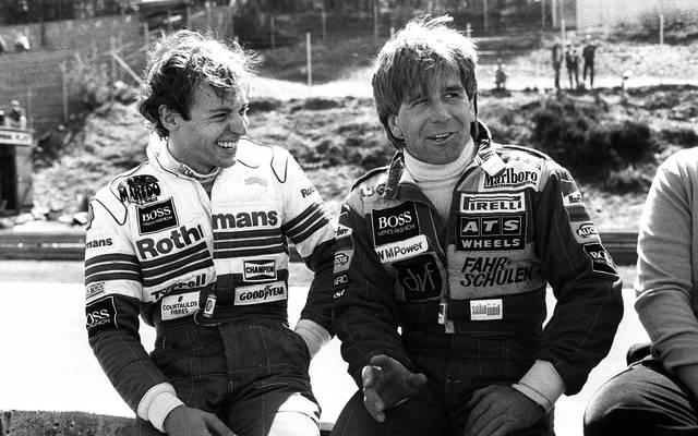 Stefan Bellof (l.) und Manfred Winkelhock verunglückten im Sommer 1985