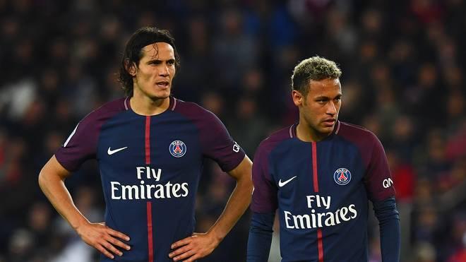 Edinson Cavani (links) und Neuzugang Neymar sind sich nicht grün