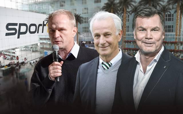 Zu Gast bei Thomas Helmer sind u.a. Axel Kruse und Rainer Bonhof