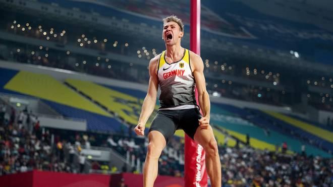 Niklas Kaul wurde in Doha sensationell Weltmeister im Zehnkampf