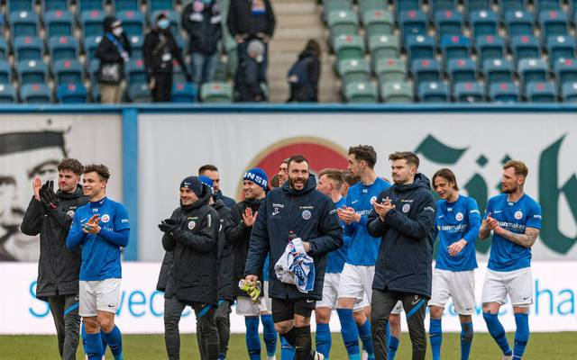 Hansa Rostock feiert einen Sieg