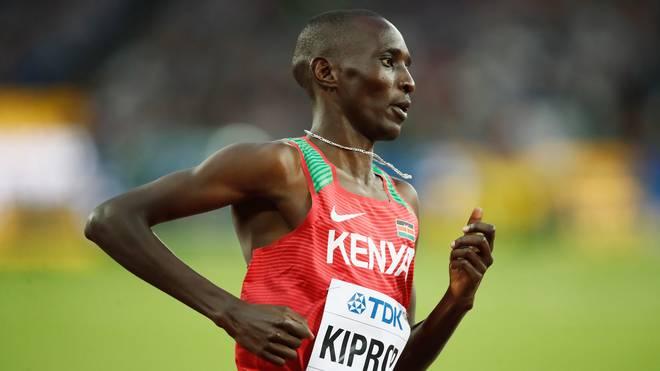 Asbel Kiprop gewann bei den Olympischen Spielen in Peking Gold