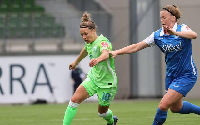 Der VfL Wolfsburg hat gegen Meppen einen Sieg gefeiert