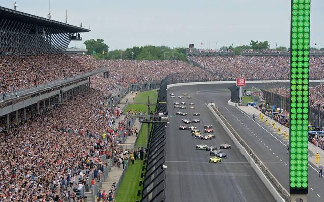 Die Indy 500 finden normalerweise vor 350.000 Zuschauern statt